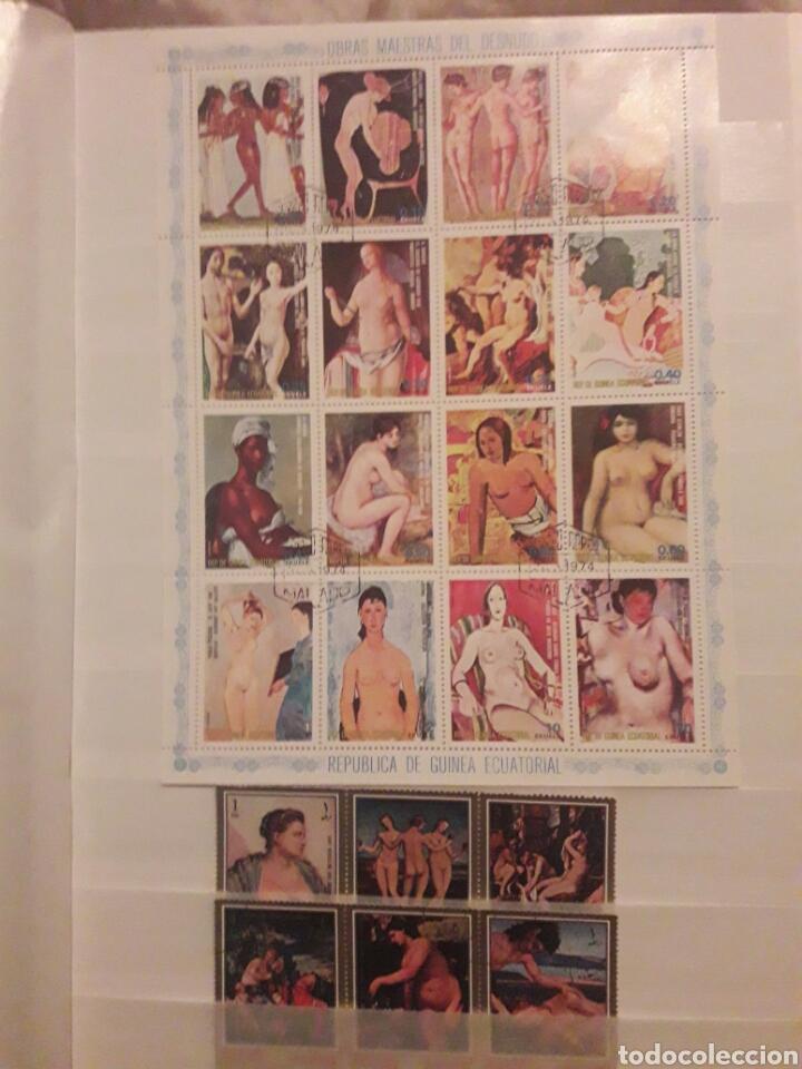 Sellos: Lote 100 Sellos Desnudos. Arte. Pintura. Varios paises. Preguntar cualquier duda. - Foto 2 - 112558403