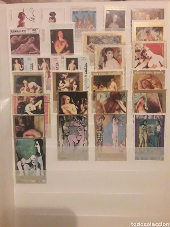 Sellos: Lote 100 Sellos Desnudos. Arte. Pintura. Varios paises. Preguntar cualquier duda. - Foto 4 - 112558403