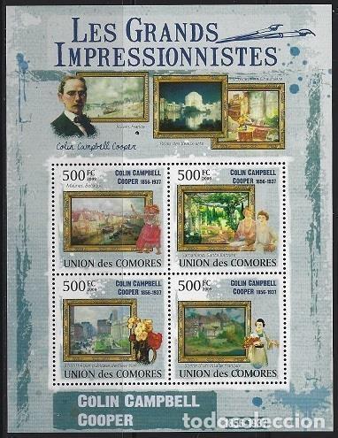 COMORES 2009 IVERT 1763/66 *** ARTE - PINTURA - CUADROS DE COLIN CAMPBELL COOPER (Sellos - Temáticas - Arte)