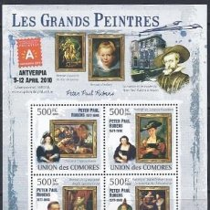 Sellos: COMORES 2009 IVERT 1787/90 *** ARTE - PINTURA - CUADROS DE PEDRO PABLO RUBENS. Lote 113686103