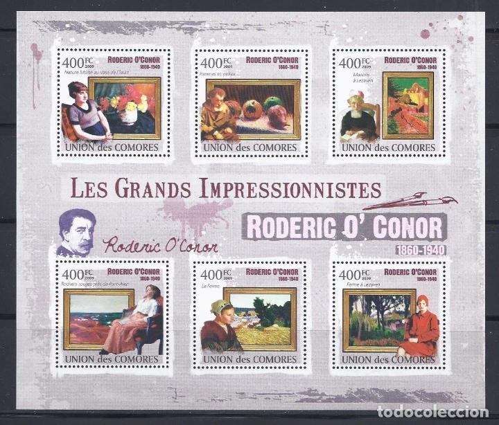 COMORES 2009 IVERT 1862/67 *** ARTE - PINTURA - CUADROS DE RODERIC O'CONNOR (Sellos - Temáticas - Arte)