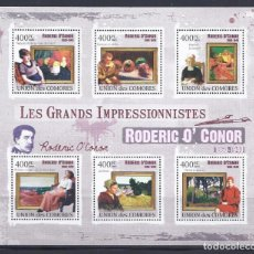 Sellos: COMORES 2009 IVERT 1862/67 *** ARTE - PINTURA - CUADROS DE RODERIC O'CONNOR. Lote 113687799