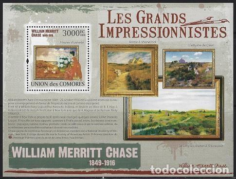 COMORES 2009 HB IVERT 225 *** ARTE - PINTURA - CUADROS DE WILLIAM MERRITT CHASE (Sellos - Temáticas - Arte)