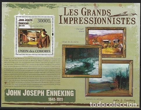 COMORES 2009 HB IVERT 229 *** ARTE - PINTURA - CUADROS DE JOHN JOSEPH ENNEKING (Sellos - Temáticas - Arte)