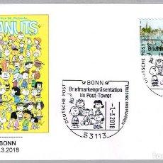 Sellos: MATASELLOS COMICS: PEANUTS - SNOOPY - CHARLIE BROWN. BONN, ALEMANIA, 2018. Lote 115017211