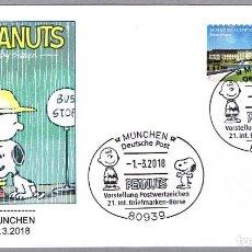 Sellos: MATASELLOS COMICS: PEANUTS - SNOOPY - CHARLIE BROWN. MUNCHEN, ALEMANIA, 2018. Lote 115134091