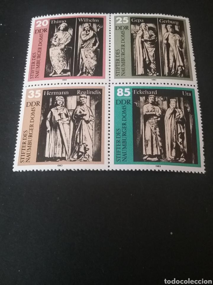 SELLOS DE ALEMANIA, R. D. (DDR) NUEVOS. 1983. ESTATUAS. ESCULTURAS. ESCUDOS. NOBLES. REYES. CLERO (Sellos - Temáticas - Arte)