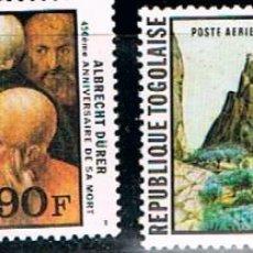 Sellos: TOGO IVERT Nº 1399/1400 450 ANIVERSARIO DE DURERO, CUADROS, NUEVO ***. Lote 115591847