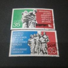 Sellos: SELLOS DE ALEMANIA, R. D. (DDR) MATASELLADOS. 1974. ESCULTURAS. MEMORIAL. CAÍDOS. BANDERAS. RESISTE. Lote 115621952