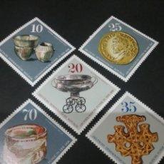 Sellos: SELLOS DE ALEMANIA, R. D. (DDR) NUEVOS. 1976. ARQUEOLOGIA. MONEDA. VASO. JOYA. COCHE. RECIPIENTE.. Lote 115729062