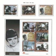 Sellos: PORTUGAL 1996** 100 AÑOS DE CINE COMPLETA SELLOS + HOJAS. Lote 116155503