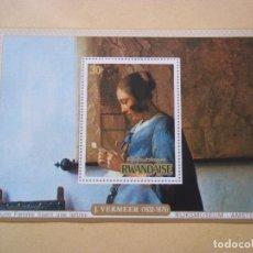 Sellos: HOJA DE BLOQUE ARTE PINTURA VERMEER MUSEUM EN HOLLANDA NUEVOS CON GOMA. Lote 116469259