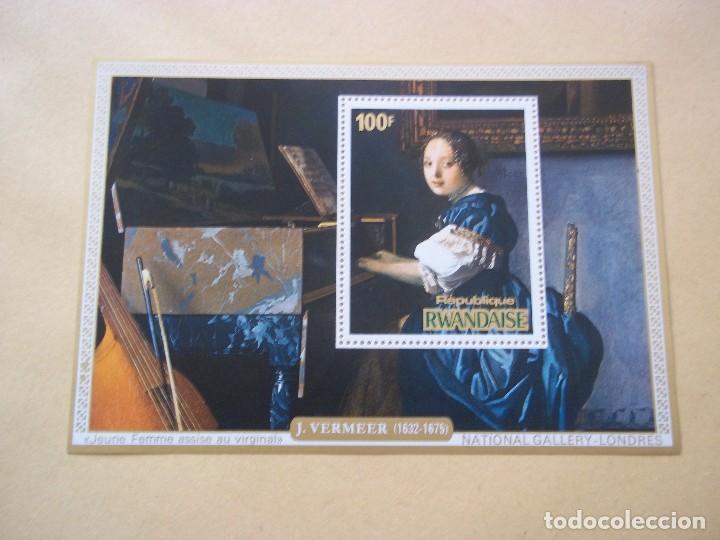 HOJA DE BLOQUE ARTE PINTURA VERMEER GALERIE EN INGLATERRA NUEVOS CON GOMA (Sellos - Temáticas - Arte)