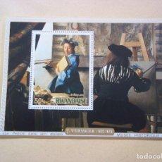 Sellos: HOJA DE BLOQUE ARTE PINTURA VERMEER MUSEUM EN AUSTRIA NUEVOS CON GOMA. Lote 140973284