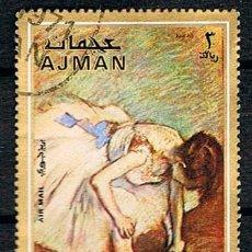 Timbres: AJMAN (EMIRATOS ARABES) Nº 1064, DEGAS: BAILARINA SENTADA, USADO. Lote 117564767