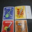 Sellos: SELLOS DE ANTILLAS HOLANDESAS NUEVOS. 1970. CARRETE.GLOBO TERRAQUEO. IMPRENTA. CUERNO. ANTENA.. Lote 117947642