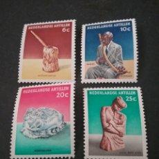 Sellos: SELLOS ANTILLAS HOLANDESAS NUEVOS. 1962. CULTURA. ESCULTURA. ENFERMERA. MACHACADOR MAIZ. MUSICA. PA. Lote 118048294
