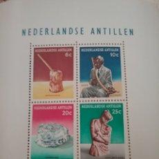 Sellos: SELLOS ANTILLAS HOLANDESAS NUEVOS.1962. ESCULTURA.MACHACADOR MAIZ. MUSICA. PAÑUELO. INSTRUMENTO.NIÑO. Lote 118048526
