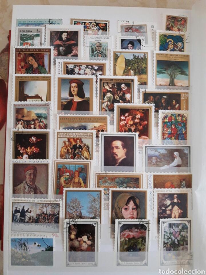 Sellos: Lote 100 sellos Pintura. Arte. - Foto 2 - 118458284