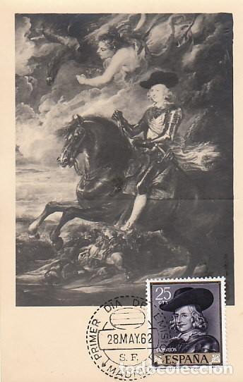 EDIFIL 1434, RUBENS: FERNANDO DE AUSTRIA, TARJETA MÁXIMA DE 28-5-1962 (Sellos - Temáticas - Arte)