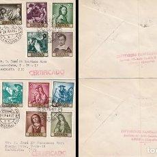 Sellos: EDIFIL 1418/27, PINTORES: ZURBARAN, PRIMER DIA DE 24-3-1962 PANFILATELICAS CIRCULADO. Lote 120556999