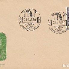 Sellos: EDIFIL 1270, PINTORES: EL BUEN PASTOR DE MURILLO, PRIMER DIA DE 24-3-1960. Lote 122130843