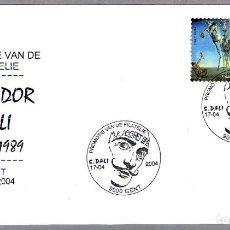 Sellos: MATASELLOS 100 AÑOS NACIMIENTO DE SALVADOR DALI. GENT, BELGICA, 2004. Lote 122791347