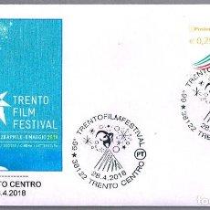 Sellos: MATASELLOS 66 TRENTO FILM FESTIVAL - CINE. TRENTO, ITALIA, 2018. Lote 122791531