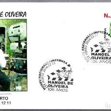 Sellos: MATASELLOS DE CINE - DIRECTOR MANOEL DE OLIVEIRA. PORTO, PORTUGAL, 2014. Lote 125839343