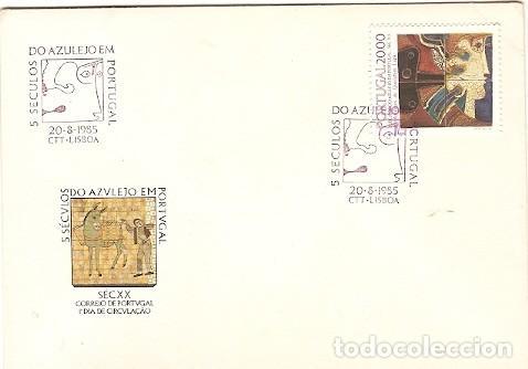 PORTUGAL Y FDC V SIGLOS AZULEJO EN PORTUGAL, LISBOA 1985 (79) (Sellos - Temáticas - Arte)