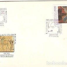 Sellos: PORTUGAL Y FDC V SIGLOS AZULEJO EN PORTUGAL, LISBOA 1985 (79). Lote 126328655