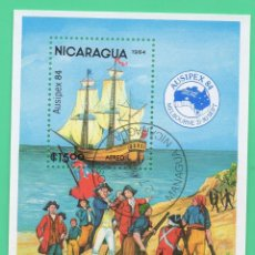 Sellos: HB NICARAGUA AUSIPEX 84 1984. Lote 129102115