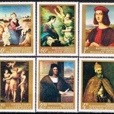 Sellos: HUNGRIA Nº 2488/94, PINTORES ITALIANOS, NUEVO *** (SERIE CORTA). Lote 129171595
