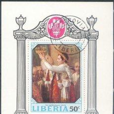 Sellos: LIBERIA ~ CORONACIÓN ~ HOJITA USADA CTO BUENO. Lote 129309363
