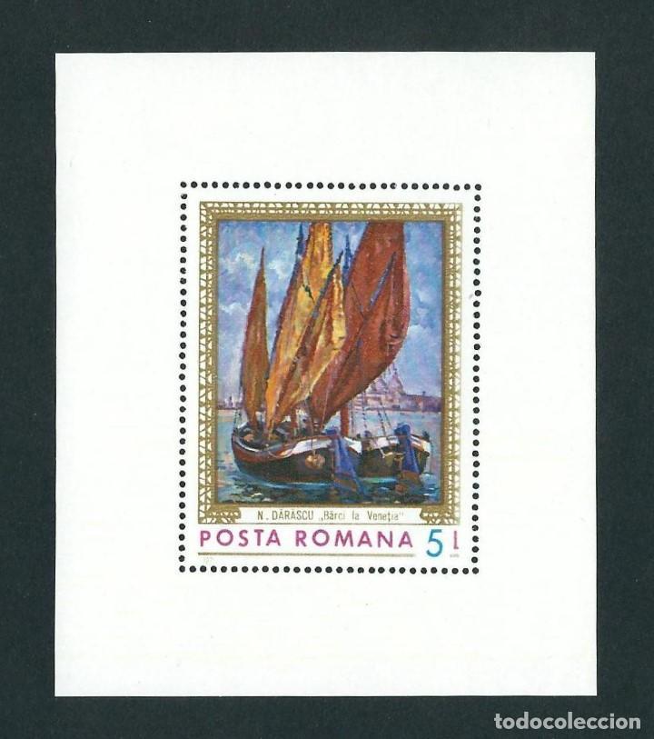 SELLO RUMANIA 1971 Y&T HB 90 PINTURA DE N DARASCU BARCO (Sellos - Temáticas - Arte)
