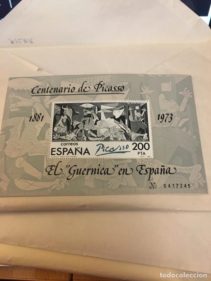 SELLO GRAN TAMAÑO DE EL GUERNICA EN ESPAÑA 200 PTS (Sellos - Temáticas - Arte)
