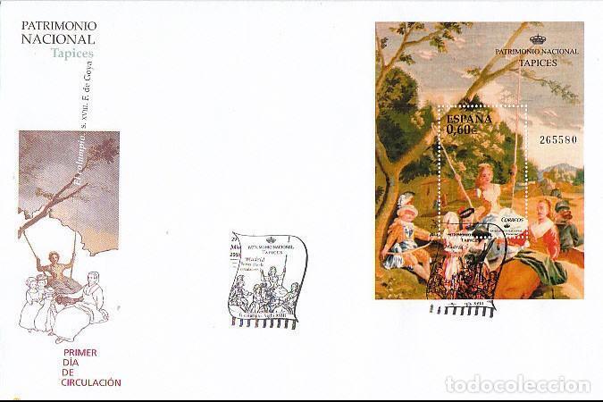 EDIFIL 4427, PATRIMONIO NACIONAL - GOYA: TAPIZ EL CIEGO DE LA GUITARRA''. PRIMER DIA DE 29-7-2008 (Sellos - Temáticas - Arte)