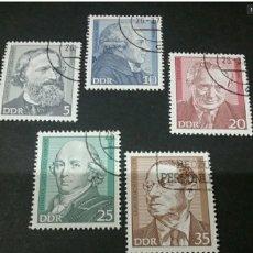 Sellos: SELLOS ALEMANIA, R. D (DDR) MTDOS/1974/PERSONALIDADES/QUIMICO/FILOSOFO/NOVELISTA/PERSONAJES FAMOSOS/. Lote 134078430