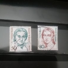 Timbres: SELLOS ALEMANIA, R. FEDERAL MTDOS/1986/MUJERES FAMOSAS/POLITICA/MUSICA/PERSONAJES/RETRATO/. Lote 135301078