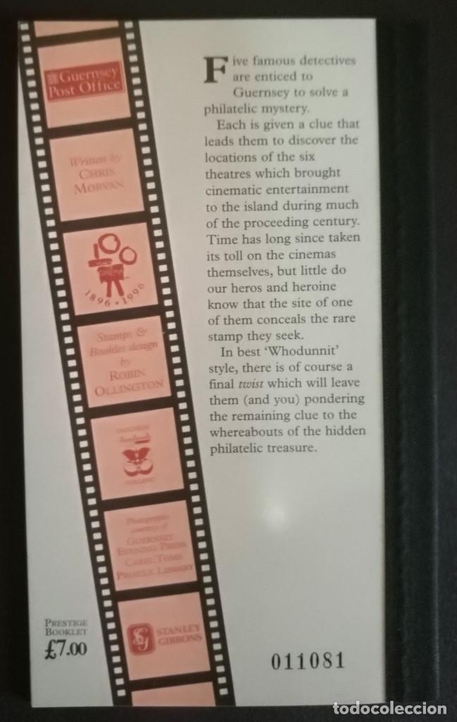 Sellos: GUERNSEY 1996 Y&T 732C 100 Años de cine en Guernsey carnet 7£ - Foto 2 - 137105770