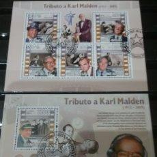 Timbres: HB R. GUINEA-BISSAU MTDAS/2009/HOMENAGE A KARL MALDEN/CINE/ACTOR/PELICULAS/ARTE/PERSONAJES FAMOSOS/E. Lote 138897186
