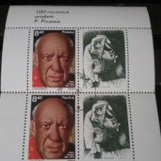 Sellos: HB R. POLONIA (POLSKA) MTDA/1981/100 ANIV. NACIMIENTO PABLO PICASO/ESCULTURA/PINTURA/ARTE/MUJER/. Lote 139633872
