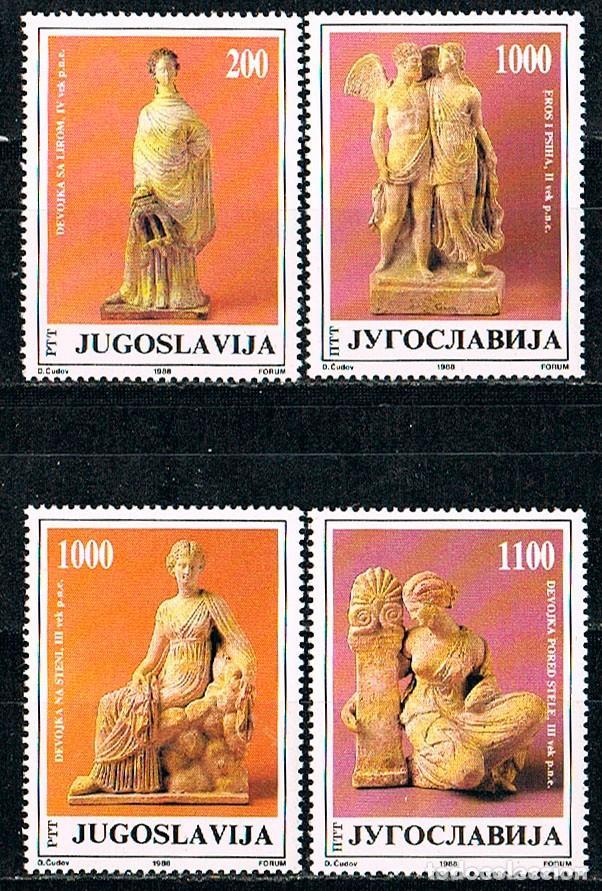 YUGOESLAVIA 2343/6, TERRACOTAS GRIEGAS DEL MUSEO JOSIP BROZ TITO DE BELGRADO, NUEVO*** (Sellos - Temáticas - Arte)