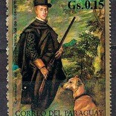 Francobolli: PATRAGUAY Nº 2213, VELAZQUEZ: FELIPE IV EN TRAJE DE CAZADOR, (MUSEO DEL PRADO) NUEVO ***. Lote 142445434