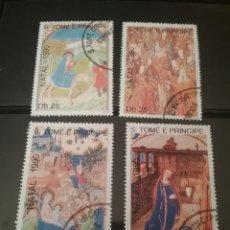 Sellos: SELLOS S. TOME Y PRINCIPE MTDOS/1990/PASCUA/PINTURAS/RUBENS/VIRGEN/RELIGION/CASTILLO/MULA. Lote 142970884
