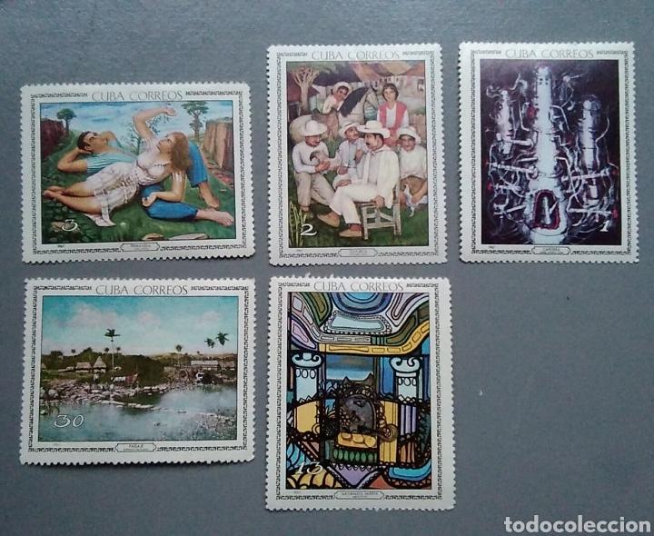 SELLOS CUBA 1086 / 90 ARTE MUSEO AÑO 1967 NUEVOS (Sellos - Temáticas - Arte)