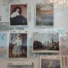 Sellos: SELLOS R. CUBA NUEVOS/1977/ARTE/PINTURAS MUSEO NACIONAL/CIUDAD/ARQUITECTURA/MEDICI/FRANCESCO/VENECIA. Lote 147786534