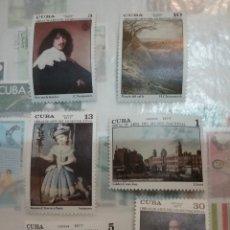 Sellos: SELLOS R. CUBA NUEVOS/1977/ARTE/PINTURAS MUSEO NACIONAL/CIUDAD/ARQUITECTURA/MEDICI/FRANCESCO/VENECIA. Lote 147786784