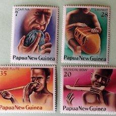 Sellos: PAPUA-NUEVA GUINEA. 359/62 INSTRUMENTOS DE MÚSICA. 1978. SELLOS NUEVOS Y NUMERACIÓN YVERT.. Lote 147802686