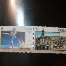 Sellos: SELLOS R. CUBA MTDOS/1988/40 ANIV. BALLET NCL Y 150 ANIV. TEATRO. LA HABANA/CABALLOS/ARQUITECTURA/CA. Lote 147908896